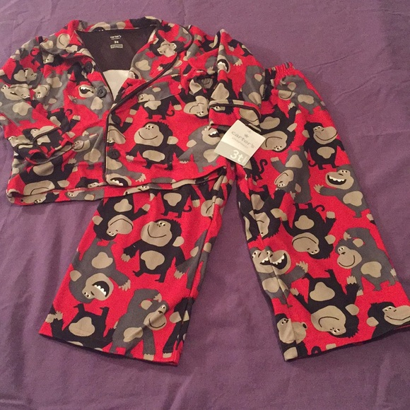 78d5412038de Nwt Little Boy Monkey Pajamas